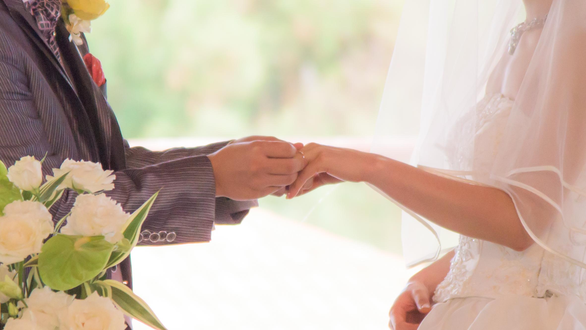 結婚式指輪交換